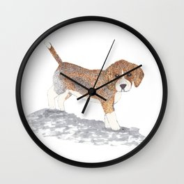 Beagle Puppy Wall Clock