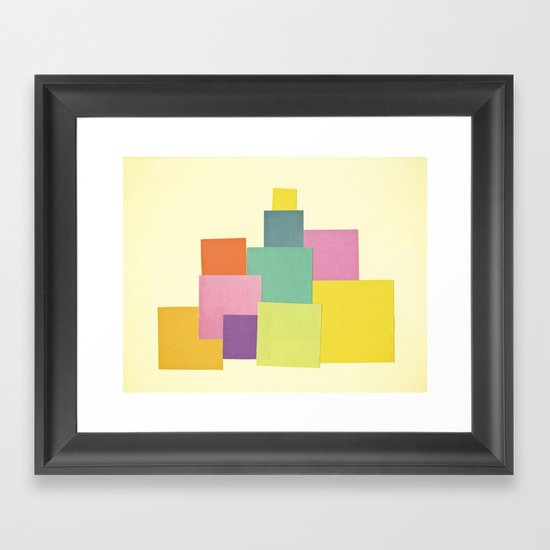 Patchwork Framed Art Print
