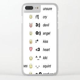 Emoji's for fun Fashion! Clear iPhone Case
