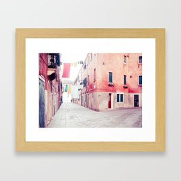 Hanging Hues in Venice Fine Art Print Framed Art Print