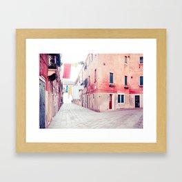 Hanging Hues in Venice Fine Art Print Framed Art Print