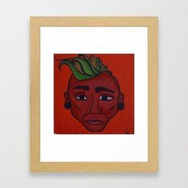Native Face 2 Framed Art Print
