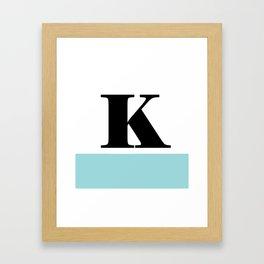 Monogram Letter K-Pantone-Limpet Shell Framed Art Print