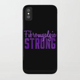 Fibromyalgia Strong iPhone Case