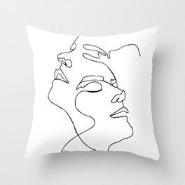 Double face one line Poster, Abstract art, abstract poster, modern art - Scandinavian art - Home Dec Throw Pillow