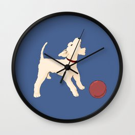 Terrier barking Wall Clock