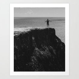 Man's freedom Art Print