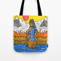 korra Tote Bags featuring Korra by TheArtGoon