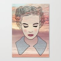 dreamer Canvas Prints featuring DREAMER by Laure.B