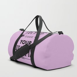 Home is where - pink Duffle Bag