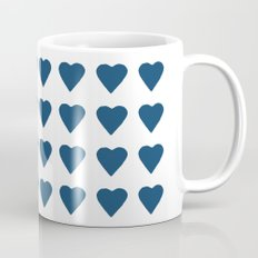 64 Hearts Navy Coffee Mug