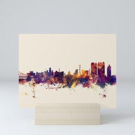 Calcutta (Kolkata) India Skyline Mini Art Print