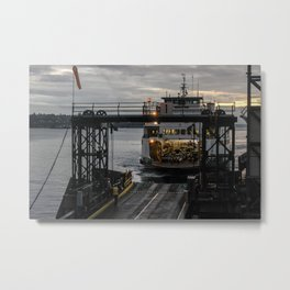 Heading Home on the Ferry Metal Print