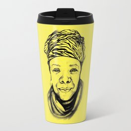 Maya Angelou - (yellow) Sketch to Digital Travel Mug