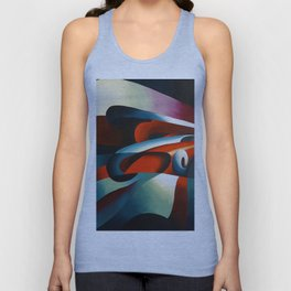 Le forze della curva (the forces of a curve) by Tullio Crali Unisex Tank Top