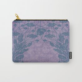 shabby chic, rustic country, floral,pattern,chic,vintage,art nouveau, belle epoque pattern, victorian pattern, timeless style, modern ,trendy,lavender,grey,elegant Carry-All Pouch