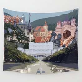 Romania Collage Wall Tapestry