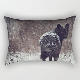 Snow Covered Rectangular Pillow