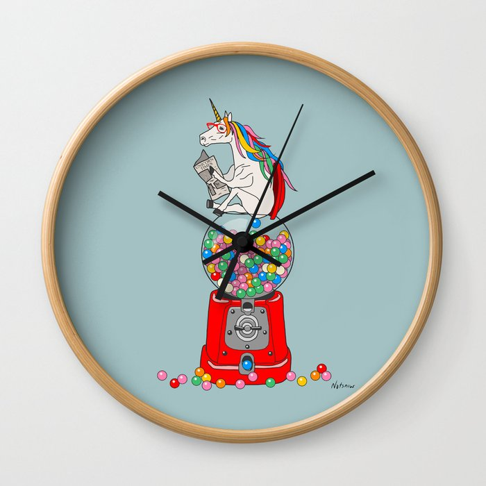 Unicorn Gumball Poop Wall Clock