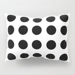 Polkadot - White & Black Pillow Sham