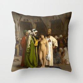 "Jean-Léon Gérôme ""The Slave Market"" 2. Throw Pillow"