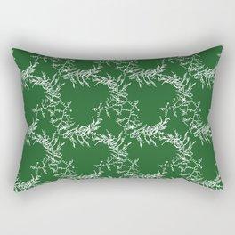Green Seaweed Pattern Rectangular Pillow