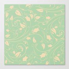 Vintage victorian flower pattern Canvas Print