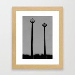 minimal noir  botanic Framed Art Print
