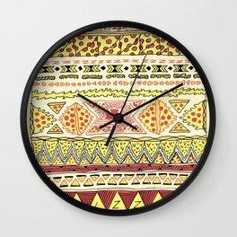 Pizza Pattern Wall Clock