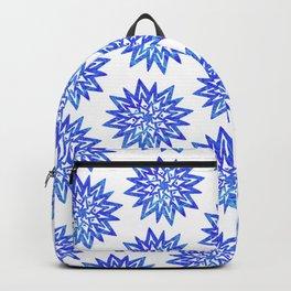 Symmetrical Shapes - Blue Heart Backpack