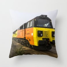 Class 70s in the Mist Throw Pillow