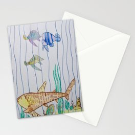 Leopard Shark & Friends Stationery Cards