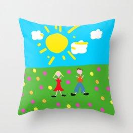 Kiddy Doodle Dandy Throw Pillow