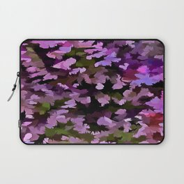 Foliage Abstract Pop Art In Ultra Violet and Purple Laptop Sleeve