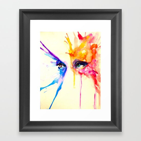 stare into the sun Framed Art Print