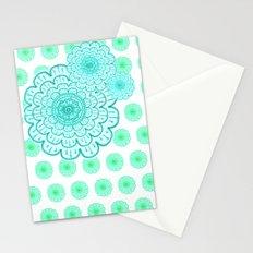 seafoam & blueeeey Stationery Cards