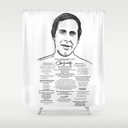 Clark Griswold - National Lampoon Ink'd Series Shower Curtain