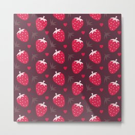 STRAWBERRIES AND CHOCOLATE Metal Print
