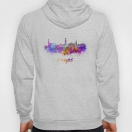 Bruges skyline in watercolor Hoody