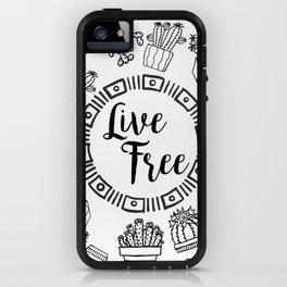 Live Free Pen Sketch iPhone Case