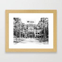 Ben Hill Griffin Stadium (North Facade) Framed Art Print