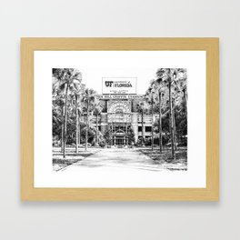 Ben Hill Griffin Stadium (North Facade) Framed Art Print