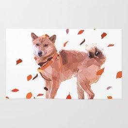 Autumn Shiba Rug
