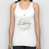 tolkien Tank Tops featuring Not all those who wander are lost - J.R.R Tolkien - 2 by Augustinet