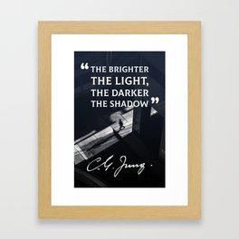 The Brighter The Light Framed Art Print