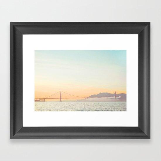 Pastel Golden Gate Framed Art Print