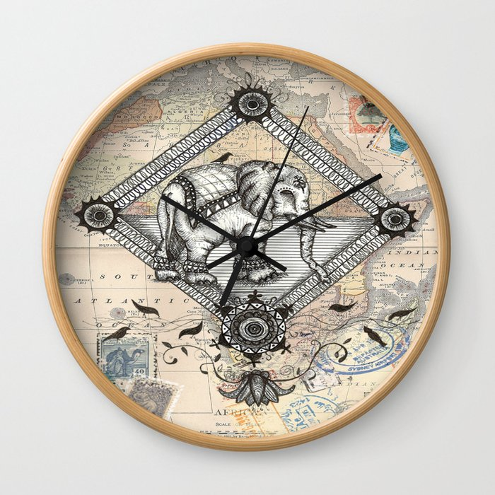 Vintage Elephant Wall Clock