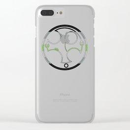 Circular Gallifreyan: Agender Clear iPhone Case