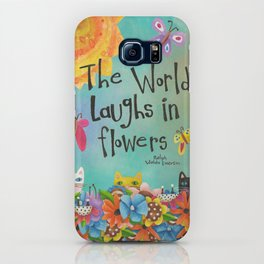 The World Laughs In Flowers iPhone Case