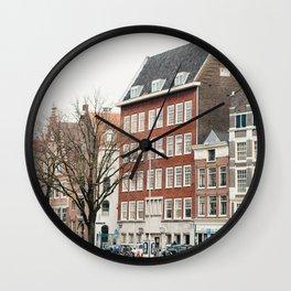 Amsterdam love Wall Clock